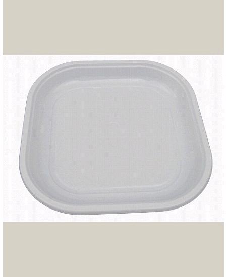 assiettesx30/20cm blanche carrée plastique