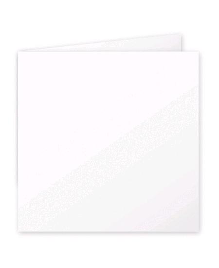 cartes doublesx25/16x16cm blanche 210grs