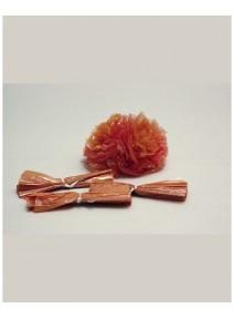 fin de serie pompomsx25/10cm chocolat
