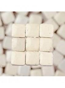 mosaïque blancx300/3x3x2mm avec glaçure 6grs