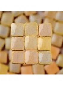mosaïque beigex300/3x3x2mm avec glaçure 6grs