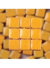 mosaïque jaune safranx300/3x3x2mm avec glaçure 6gr