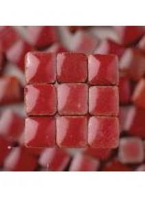 mosaïque bordeauxx300/3x3x2mm avec glaçure 6grs