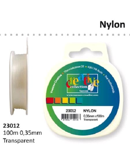 fil nylon 100mx0.35mm transparent