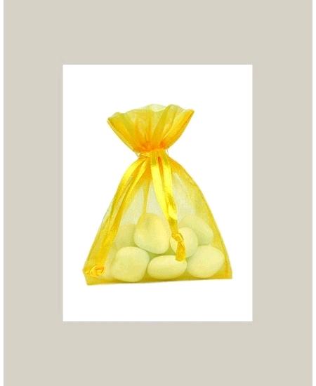 sachetsx10/7.5x10cm organdi jaune vif