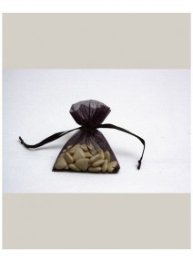 sachetsx10/7.5x10cm organdi noir