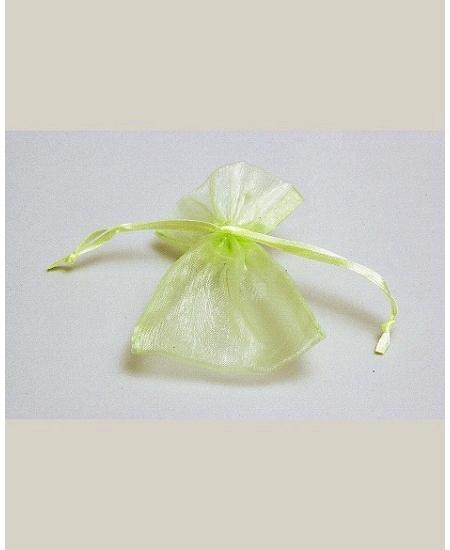 sachetsx10/7.5x10cm organdi vert