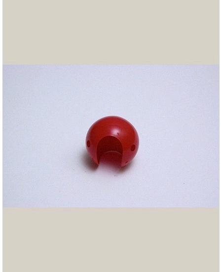 nez de clown rouge plastique adulte d3.5cm