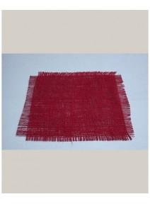 fin de serie carré jutex10/24x24cm rouge