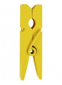 mini pincesx12/H3.5cm jaune en bois