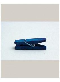 mini pincesx12/h3.5cm turquoise en bois