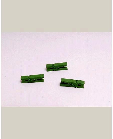 mini pincesx12/h3.5cm vert pomme en bois