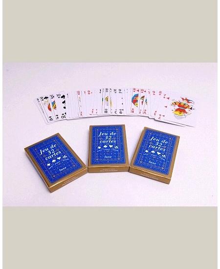 jeu de 32 cartesx4 paquets plastifiées