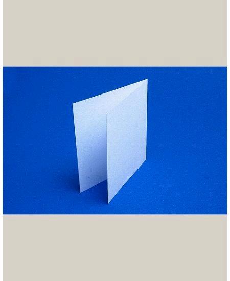 carte pliéex25/135x135mm blanche