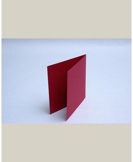 carte doublex25/135x135mm rouge