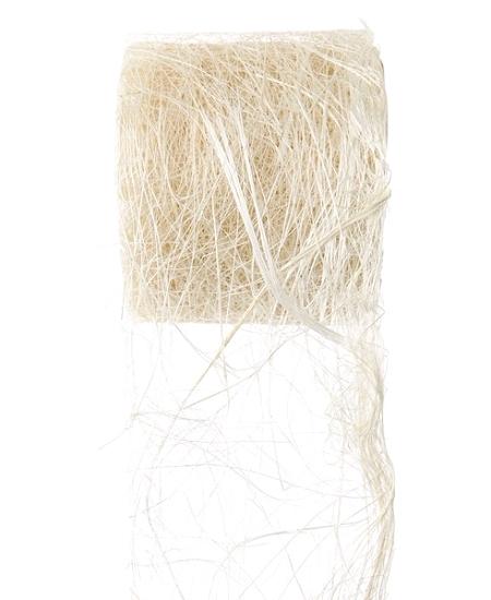ruban abaca naturel 5m/7cm
