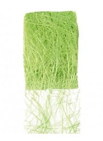 ruban abaca vert pomme 5m/7cm