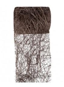 ruban abaca chocolat 5m/7cm