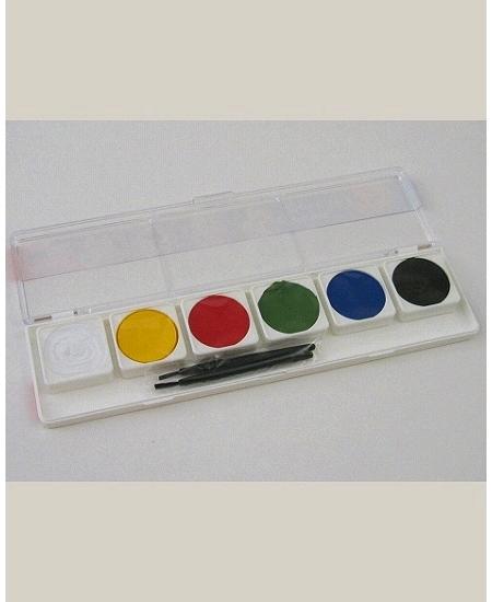 palette de 6 fards à l`eau + 2 pinceaux