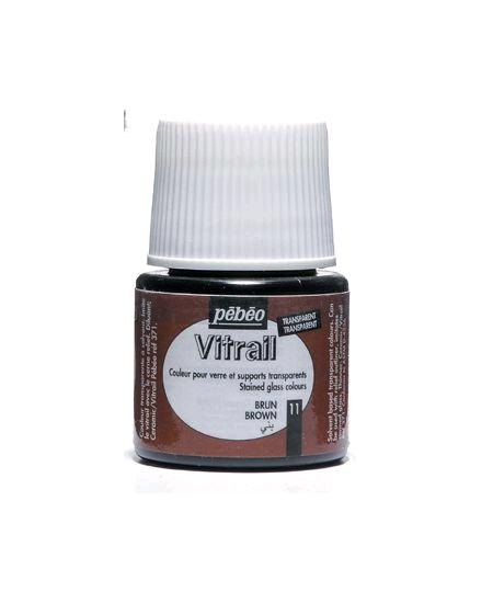 peinture vitrail 45ml brun