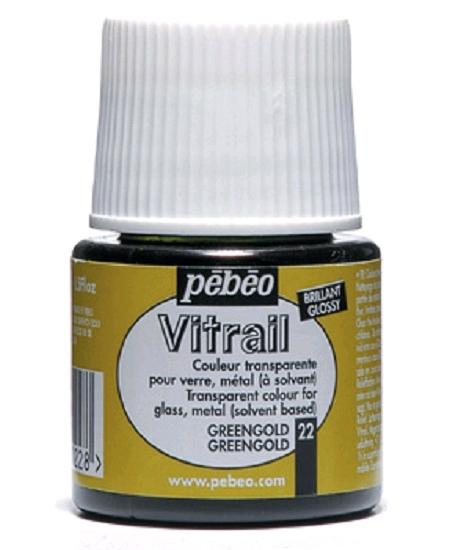 peinture vitrail 45ml greengold