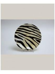 FIN DE SERIE x10/d27cm assiette zèbra