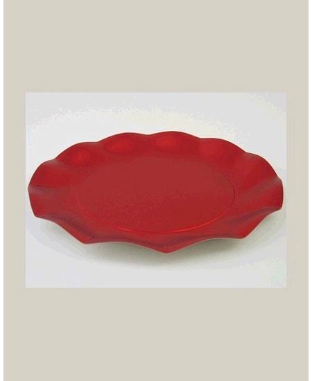 assiettesx10/D27cm rouge métallisé