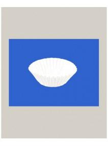 caissettesx1000/d2.4cmxh1.6cm blanche ronde