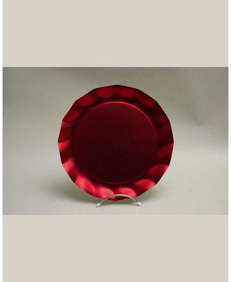 assiettesx5/D32.4cm rouge satiné carton
