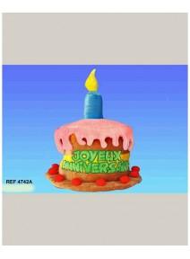 FIN DE SERIE chapeau gâteau anniversaire