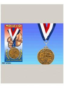 médaille d`or du joyeux anniveraire
