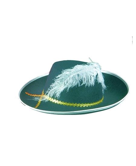 chapeau mousquetaire adulte noir