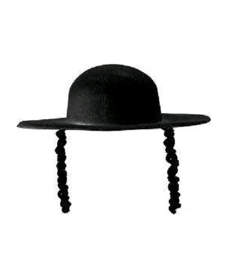 chapeau rabbin en feutre noir