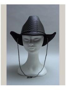 chapeau cowboy adulte brillant noir