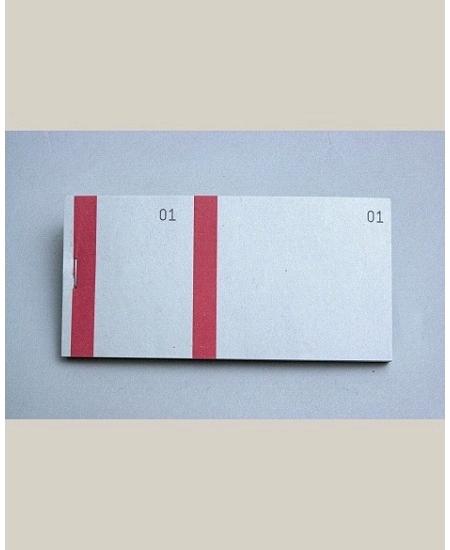 bloc vendeurx100/66x135mm rouge en 2 parties