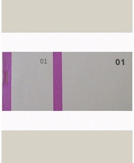 bloc vendeurx100/66x135mm violet en 2 parties