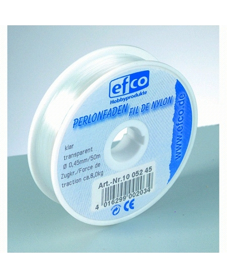 fil nylon 100m/d25mm transparent résistant 2.7kg
