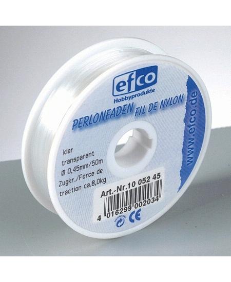 fil nylon 100m/0.45mm transparent résistance 9kg