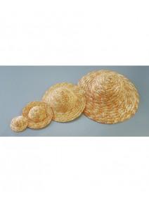 chapeau de paille d8.5cm naturel clair