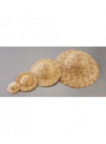chapeau de paille D11.5cm naturel clair