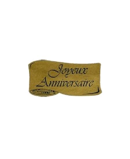 étiquettesx500 joyeux anniversaire or parchemin