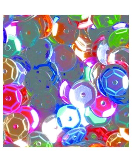 paillettesx500/6mm multicolore bombées