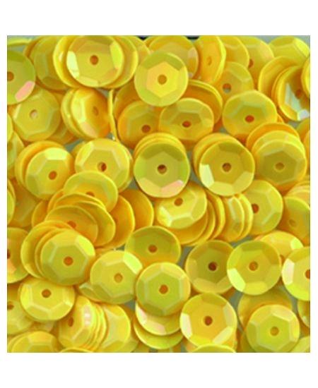 paillettesx500/6mm jaune bombées