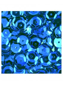 paillettesx500/6mm bleu clair bombées