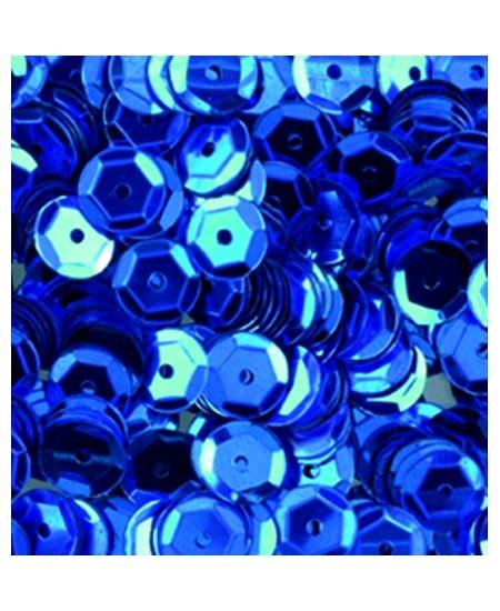 paillettesx500/6mm bleu rondes bombées