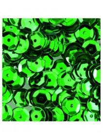 paillettesx500/6mm vert clair rondes bombées perfo