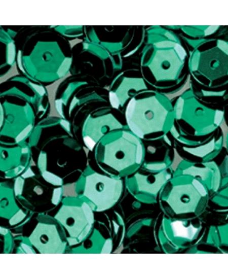 paillettesx500/6mm vert rondes bombées