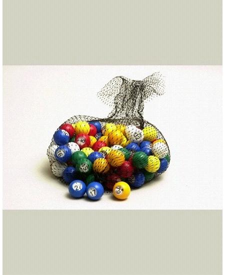 sachet de 90 boules numérotées multicolore