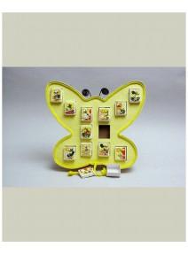 FIN DE SERIE papillon jaune 12 parts