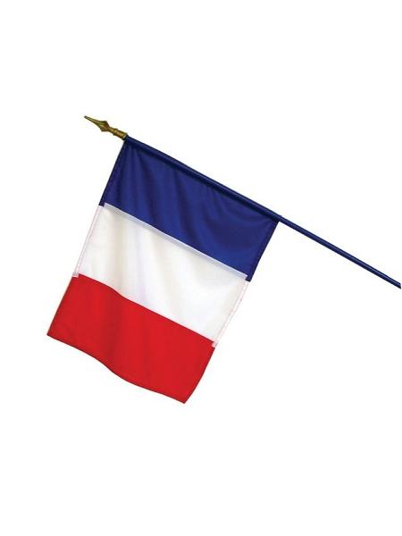 drapeau france 100x150cm 100% polyester sur hampe